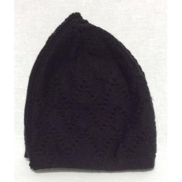 Mercan Plain Thick Hat - Black