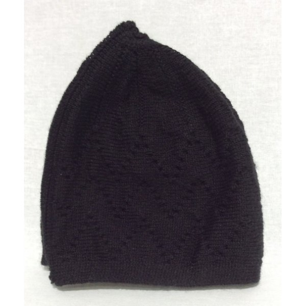 Mercan Plain Thick Hat - Black