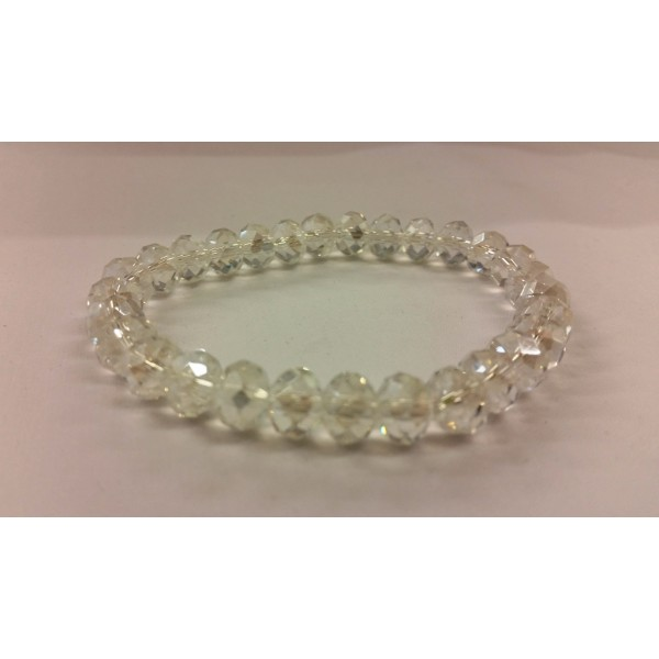 AKJDX6 Bracelet Single Beeds - Clear