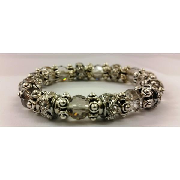 AKJDX4 Bracelet Pearl Beed - Grey/Silver