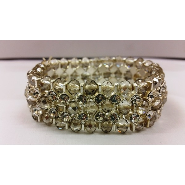 AKJMER6 Bracelet Grey & Diamond Triple