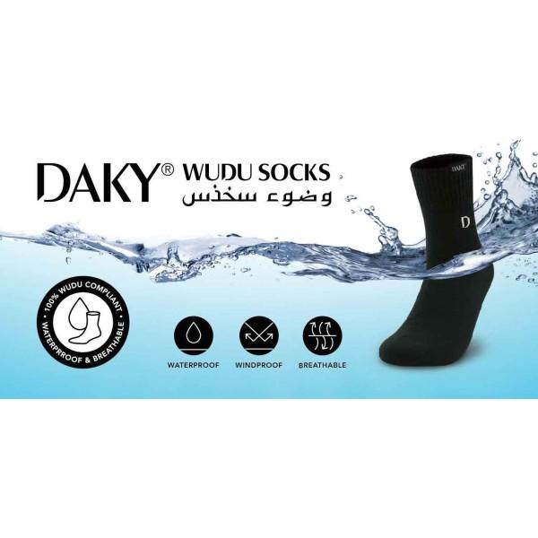 Daky -  Black Waterproof Wudu Sock