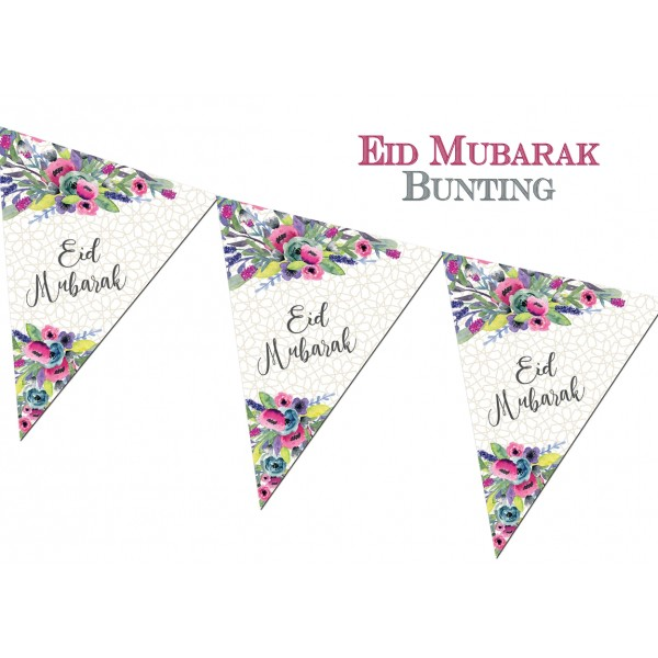 "Eid Mubarak Bunting - ""Watercolour"" (FEB04)"