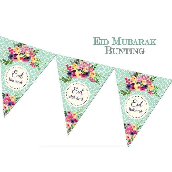Eid Mubarak Bunting - Green