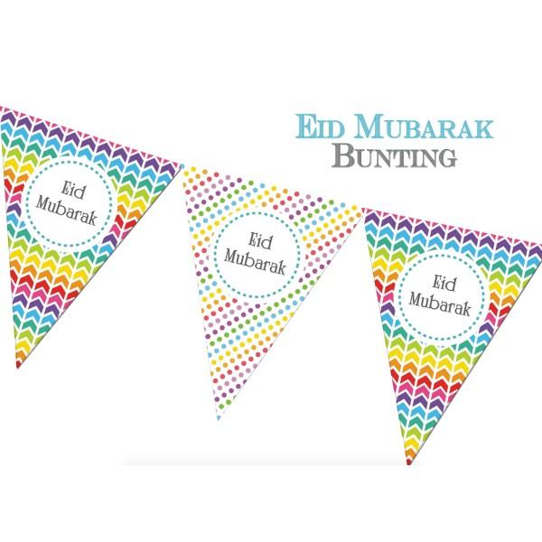 Eid Mubarak Bunting - Rainbow