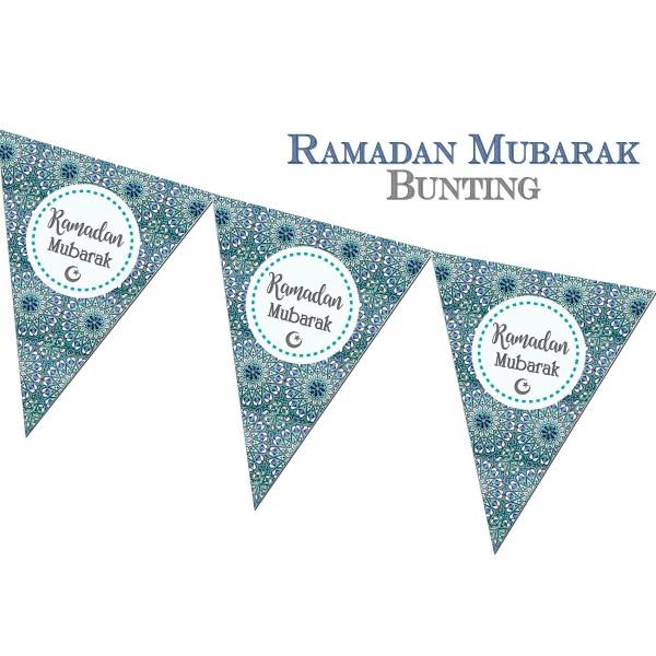 Ramadan Mubarak Bunting - Stars