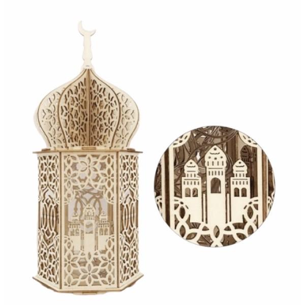 Masjid Wooden LED Night Light Home Decor
