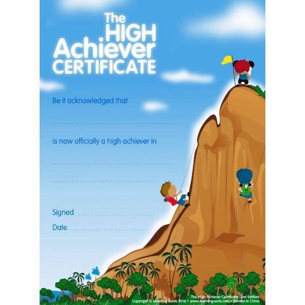 High Achievers Certificate (25 Pack - A4)