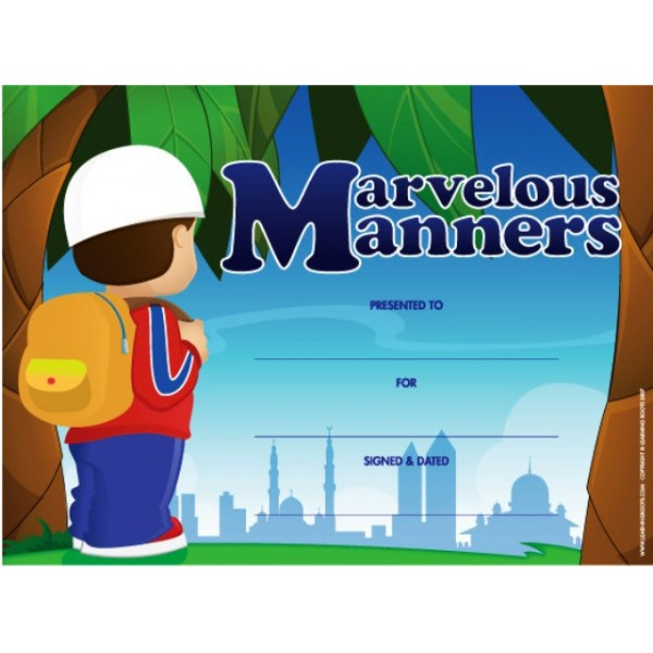 Marvellous Manners (25 Pack - A4)