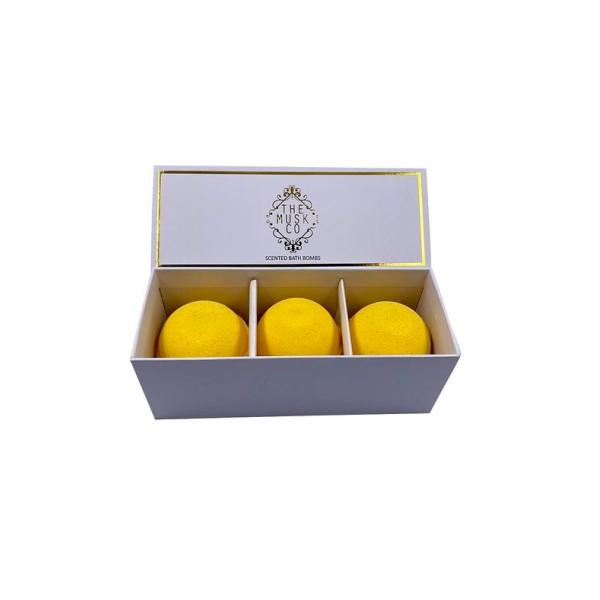 MuskCo: Scented Bath Bombs x3 Blossom (Yellow)