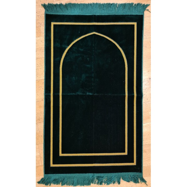 Plain Gold Pattern Prayer Mat