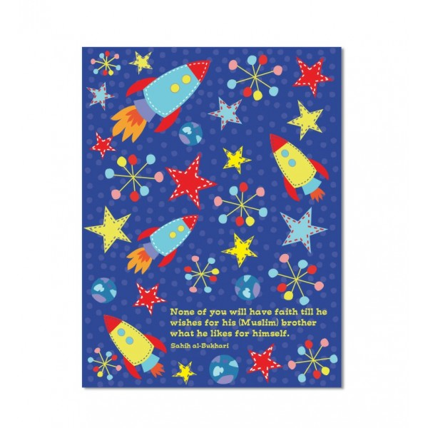 Illustrated Notebook : Space Rocket