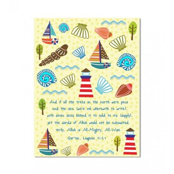 Illustrated Notebook : Seashells