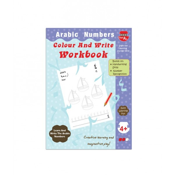 Colour and Write Workbook : Arabic Numbers
